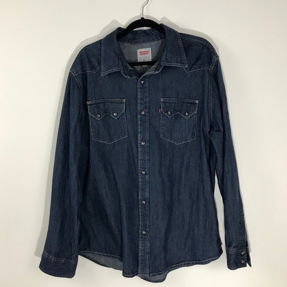 29a5487010 Levi s Other - Levi s Denim Western Pearl Snap ...